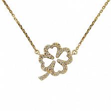 Золотое колье с бриллиантами Lucky