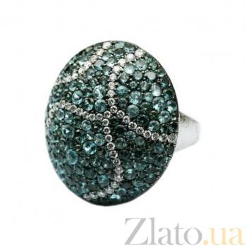 Золотое кольцо с цаворитами, турмалинами и бриллиантами Океания 000026896