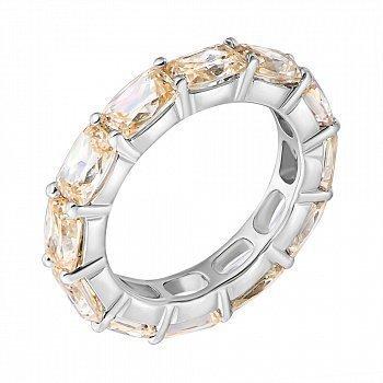 Серебряное кольцо с фианитами 000059755