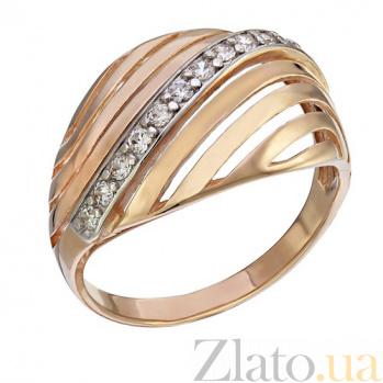 Кольцо из красного золота с фианитами Импреза TNG--380132