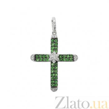 Золотой крестик с бриллиантами Сабира К680:ЭД-21890