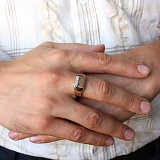 Золотое кольцо Статус с фианитами