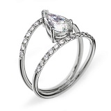 Золотое кольцо с бриллиантами Лоранс