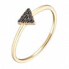 Золотое кольцо Триона в жёлтом цвете с фианитами