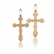 Крестик из красного золота Святой символ