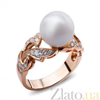 Кольцо с жемчугом и бриллиантами Angie AQA--к004кP