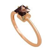 Золотое кольцо с раухтопазом Принцесса