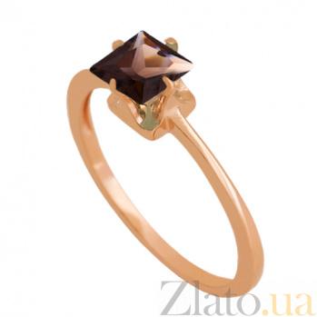 Золотое кольцо с раухтопазом Принцесса VLN--112-1765-2