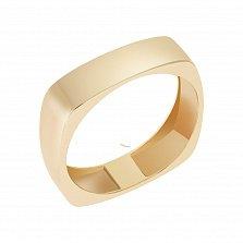 Обручальное кольцо Сила в желтом золоте