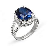 Золотое кольцо с сапфиром и бриллиантами Новолуние