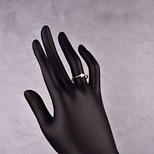 Серебряное кольцо Ясная звездочка с фианитами