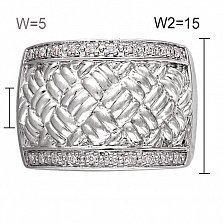 Кольцо из белого золота Ниэль с бриллиантами