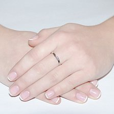Кольцо из белого золота с бриллиантом Элодия