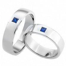 Золотое обручальное кольцо с сапфиром Любовная магия