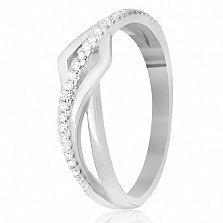 Кольцо из серебра Аморелли с фианитами