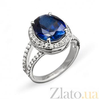 Золотое кольцо с сапфиром и бриллиантами Новолуние R0599