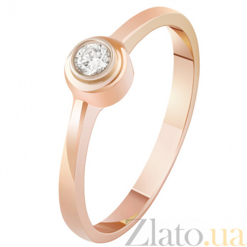 Золотое кольцо с бриллиантом Признание KBL--К1852/крас/брил