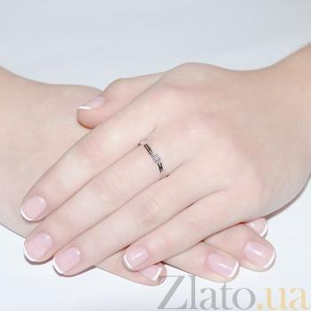Кольцо из белого золота с бриллиантом Элодия KBL--К1961/бел/брил