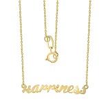 Колье Happiness из желтого золота