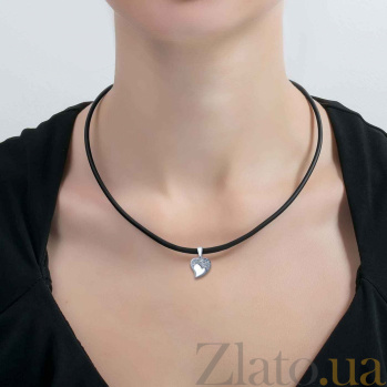 Кулон серебряный Сердце с фианитами AQA--S238550078