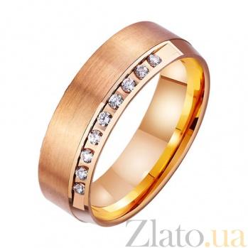 Золотое обручальное кольцо Вечность на двоих с фианитами TRF--4121473