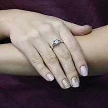 Серебряное кольцо Светлана с голубым топазом