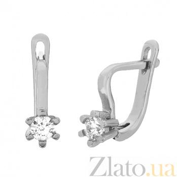 Серебряные серьги с фианитами Сиенна SLX--С2Ф/203