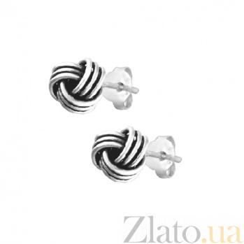 Серебряные сережки Симметрия SLX--С5/047