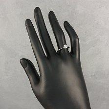 Золотое помолвочное кольцо Эльза в белом цвете с бриллиантом в полкарата
