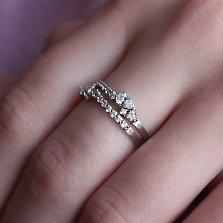 Серебряное кольцо Шелль с фианитами