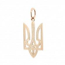 Золотой кулон-герб Национальная идентичность с узорной насечкой