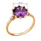 Золотое кольцо с александритом и цирконием Маделина