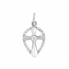 Золотой крест-щит София с бриллиантами