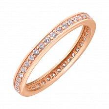 Кольцо в красном золоте Саманта с фианитами
