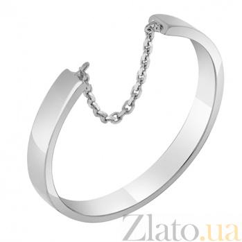 Кольцо из белого золота Скорость 000032655