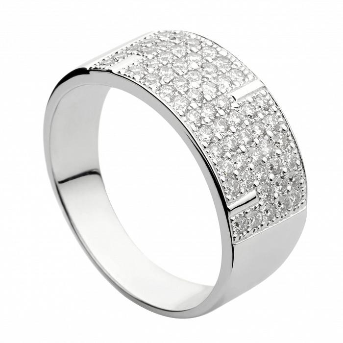Кольцо из белого золота с бриллиантами Августина 000030478