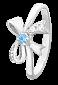 Серебряное кольцо с голубым фианитом Милый бантик 000025672