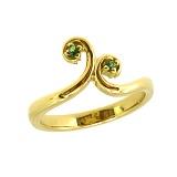 Золотое кольцо с тсаворитами Болеро