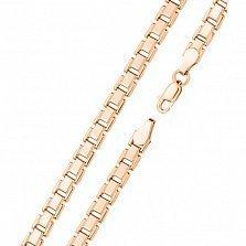 Золотой браслет Марлон в ролексовом плетении