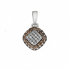 Золотой подвес Нинон с бриллиантами