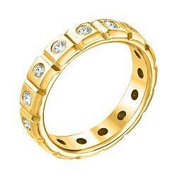Обручальное кольцо из желтого золота с бриллиантами 000140430