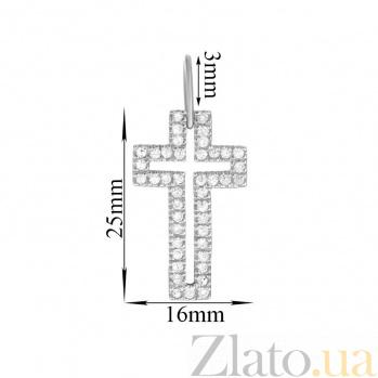 Серебряный крестик с фианитами Руфина 000025296
