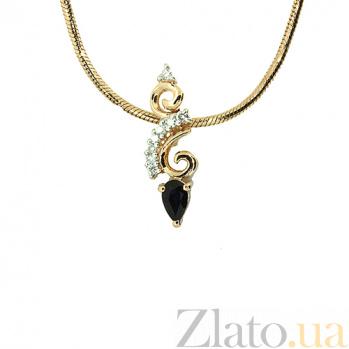 Подвес из красного золота с бриллиантами и сапфиром Генриетта ZMX--PDS-5594_K
