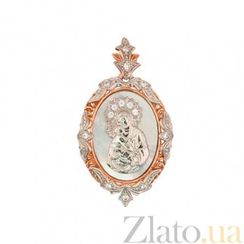 Золотая ладанка Владимирская Божья Матерь VLT--ДЕ3573-2-00