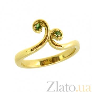 Золотое кольцо с тсаворитами Болеро ZMX--RTsav-00273y_K