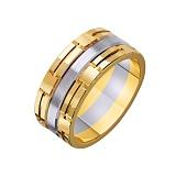Золотое обручальное кольцо Доверие в комбинированном цвете