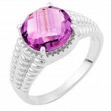 Серебряное кольцо Женевьева с аметистом