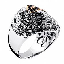 Золотое кольцо с бриллиантами Вальс цветов