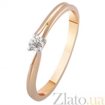 Золотое кольцо с бриллиантом Элодия KBL--К1961/комб/брил