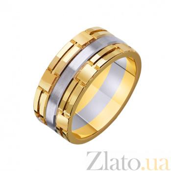 Золотое обручальное кольцо Доверие в комбинированном цвете TRF--451719